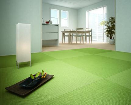 お部屋の雰囲気を変える「縁なし畳」